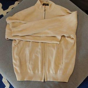 Men's zip up cardigan